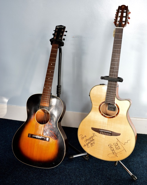 Gibson Kalamahoo and Yamaha guitars